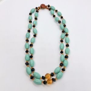 Necklace vintage Czech Bohemian glass beads